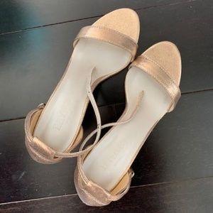 Rose Gold Kitten Heel Shoes - Brand New!